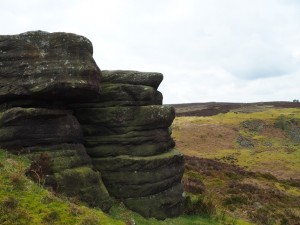 A gritstone outcrop above Fosse Gill