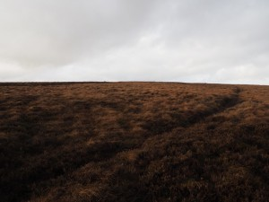 Heading across Booze Moor to the trig point