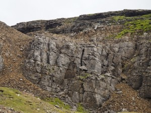 At least two different seams of rock in this section of Windegg Scar