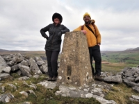 Me and Sam by the trig point