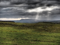 Shafts of light towards Pendle Hill