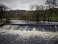 The weir where we joined the River Ribble
