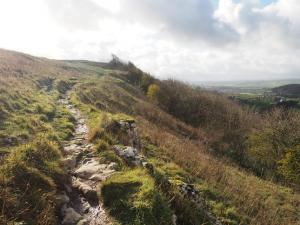 The path running atop Stainforth Scar