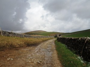 Heading up Horton Scar Lane