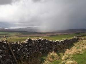 A sharp shower passed over Whernside and Ribblehead