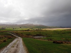 The Pennine Bridleway descending to the River Ribble