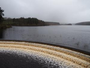 At the top of the outflow from Fewston Reservoir