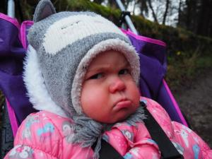 My niece Chloe looking decidedly grumpy