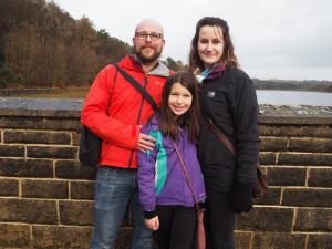 Me, Lisa and Rhiannon on Swinsty's dam