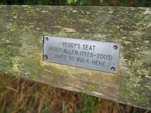 Memorial to Peggy Allen
