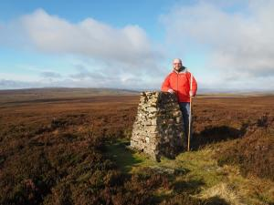 By the trig point on Tarn Seat