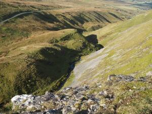 Looking down into Oxnop Gill