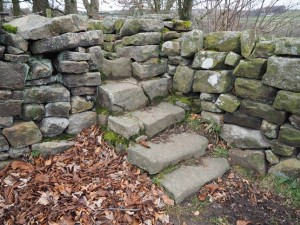 The superb stone 'staircase' stile