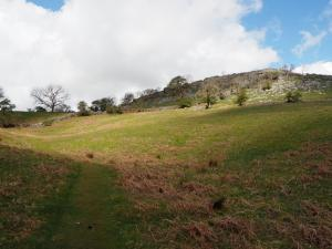 Looking up at High Scar