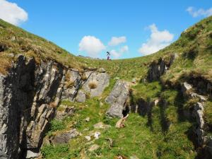 Rhanny above Higher Heights Hole