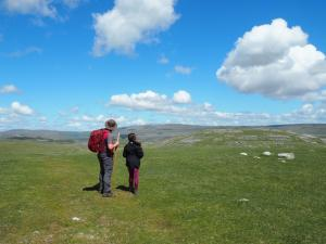 Showing Rhanny the hills of Wharfedale