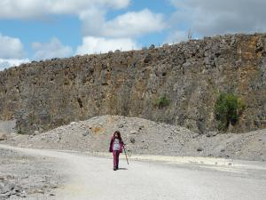 Another photo of Rhanny in Threshfield Quarry