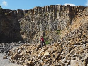 One of me in Threshfield Quarry