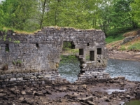 The ruins of the old flax mill