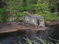 The flax mill ruins from the other side