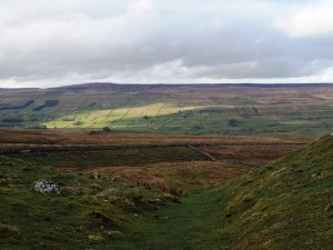 The view across Wensleydale towards Lovely Seat