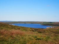 Looking back at Grimwith Reservoir