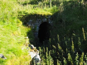 A mine level near the top of Trollers Gill