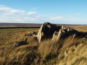 The summit outcrops of High Crag