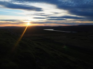 Sunset over Grimwith Reservoir