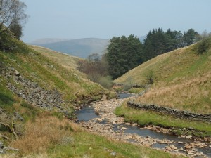 Looking back down the River Rawthey