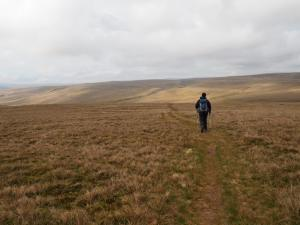 Paul heading across the moor