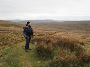 Paul taking in the views from the Pennine Way