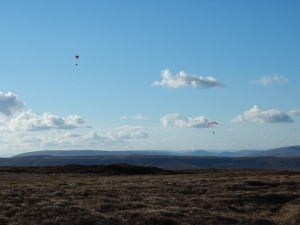 Paragliders above Wether Fell