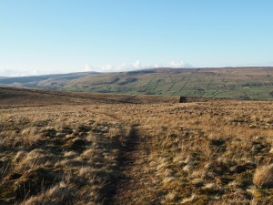The thin path leading back to Burtersett