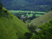 Looking back down to Buckden