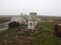 Not much to see on this occasion from the top of Buckden Pike