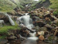 The first of some smaller falls in Cow Close Gill