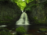 The gorgeous waterfall in Crook Gill