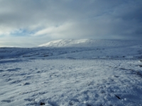 Magnificent winter scenes on the approach to Whernside