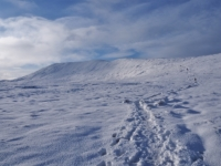 Following the path up on to Whernside