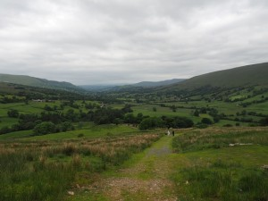Climbing out of Dentdale on the Craven Way