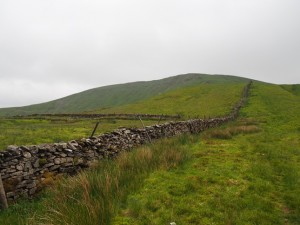 Looking back up at Great Coum