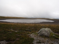 The largely empty first tarn we came across