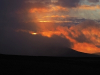 The sun setting behind Great Coum which was largely covered in cloud