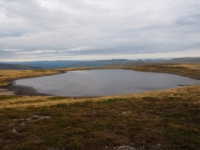The large tarn we visited on our walk back