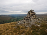 A cairn overlooking Dentdale