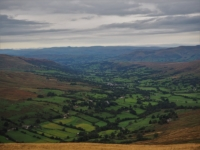 The magnificent view of Dentdale from the cairn