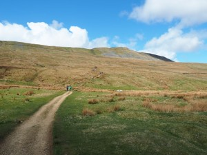 Looking back up at Whernside