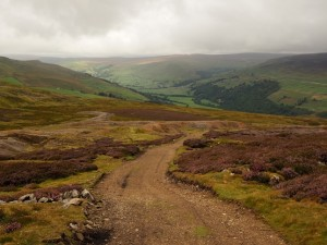 Looking back down Apedale Road into Swaledale