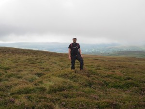 On the small bilberry mound that seemed to be the highest point of Pickerstone Ridge